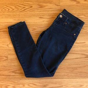 Low rise jean legging